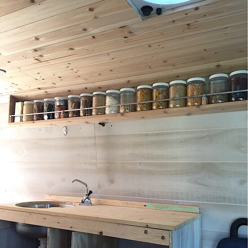 Sprinter Van Conversion Kitchen Floating Pantry